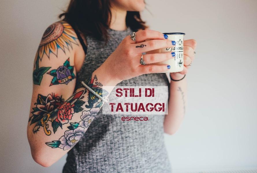 Gli stili di tatuaggi più diffusi